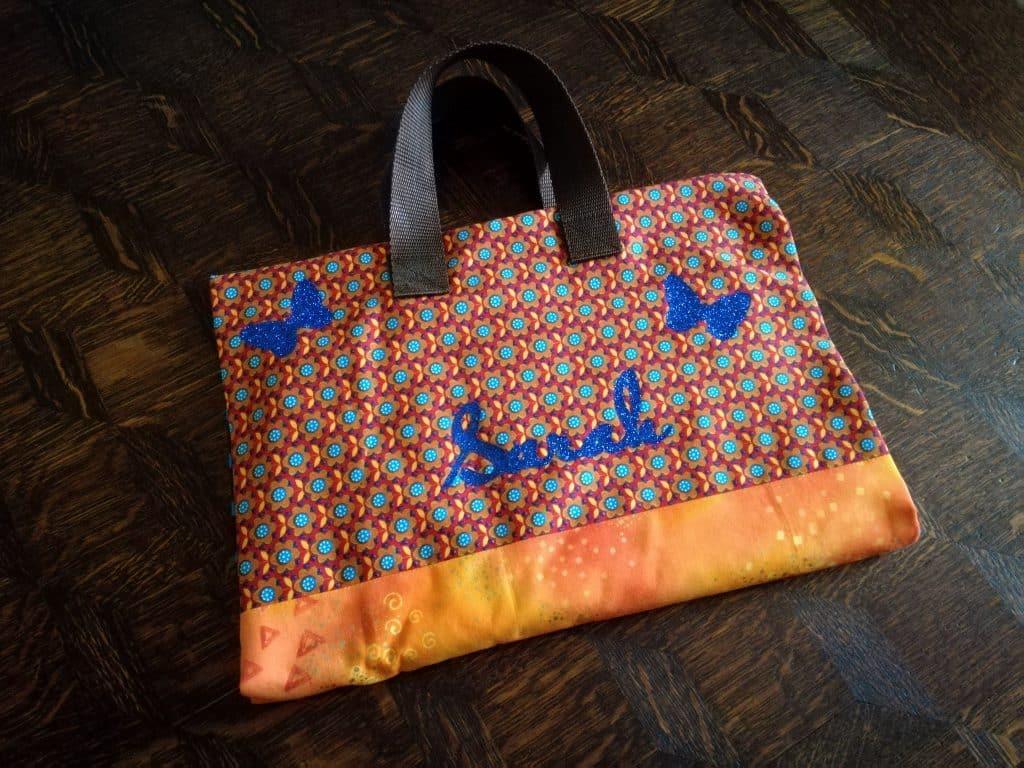 Pochette d'artiste orange