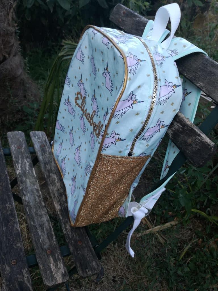 Tuto sac à dos pour la maternelle côté