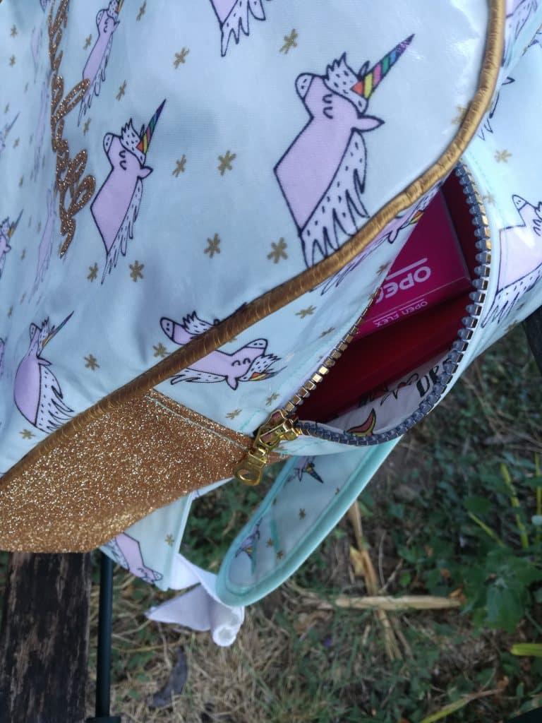 Tuto sac à dos pour la maternelle détail