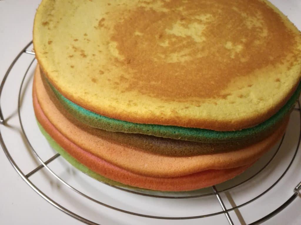 Recette du gâteau d'anniversaire arc-en-ciel : le gâteau
