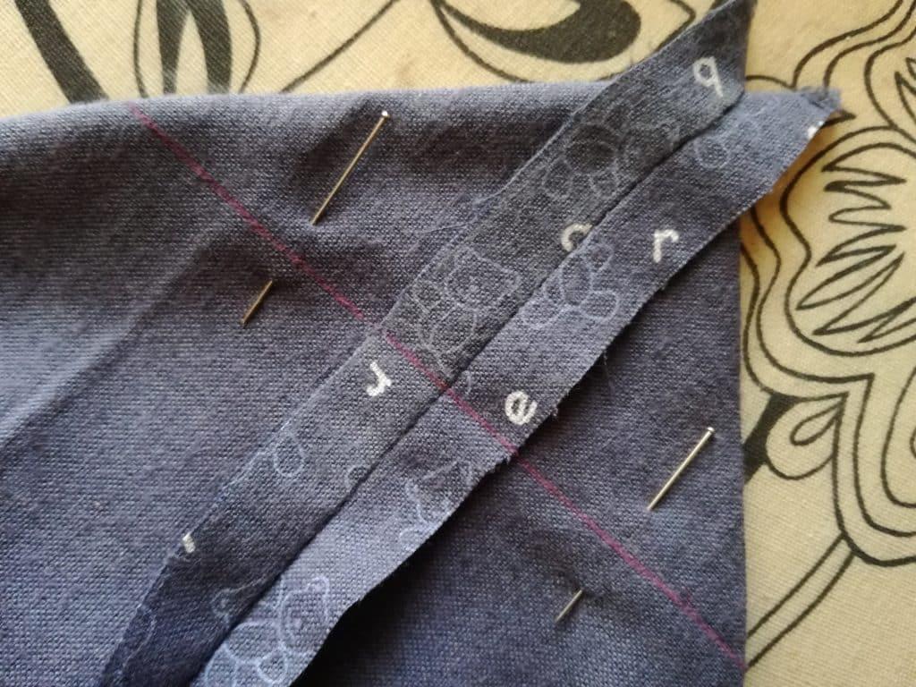 Poche pour couches lavables : couture pour créer l'épaisseur