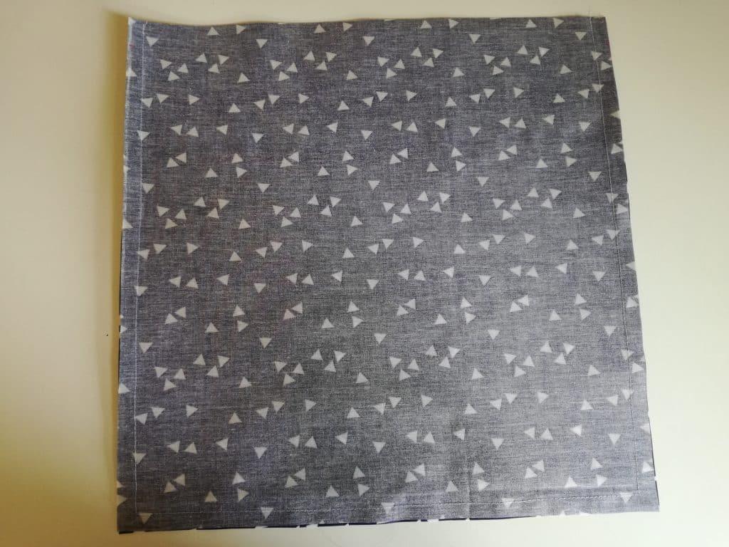Poche pour couches lavables : couture intérieur