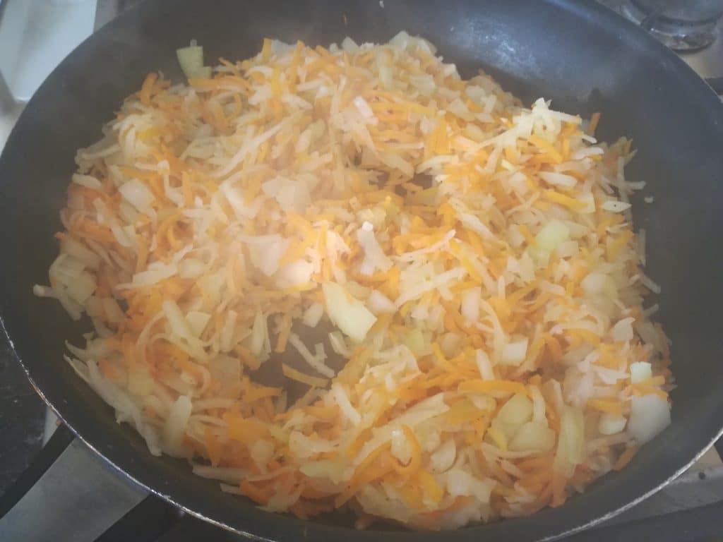Papillote de colin et sa julienne de légumes : cuisson des légumes