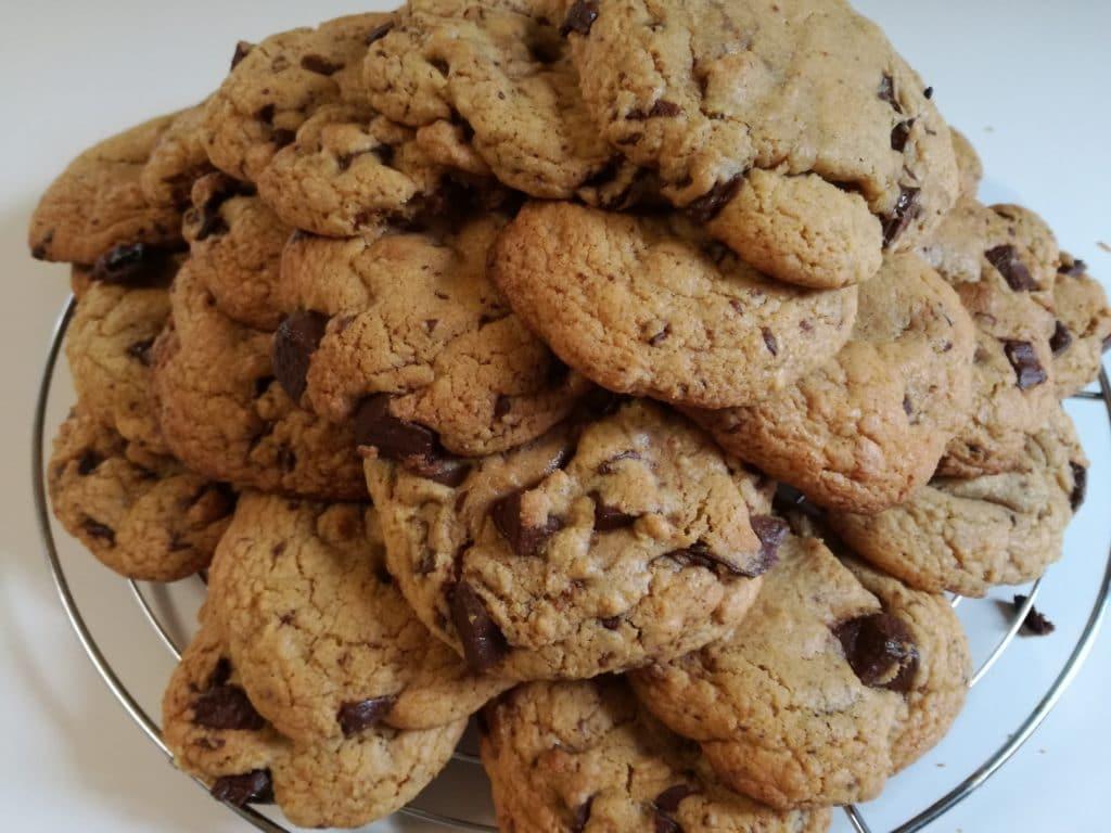 Recette des cookies moelleux aux pépites de chocolat