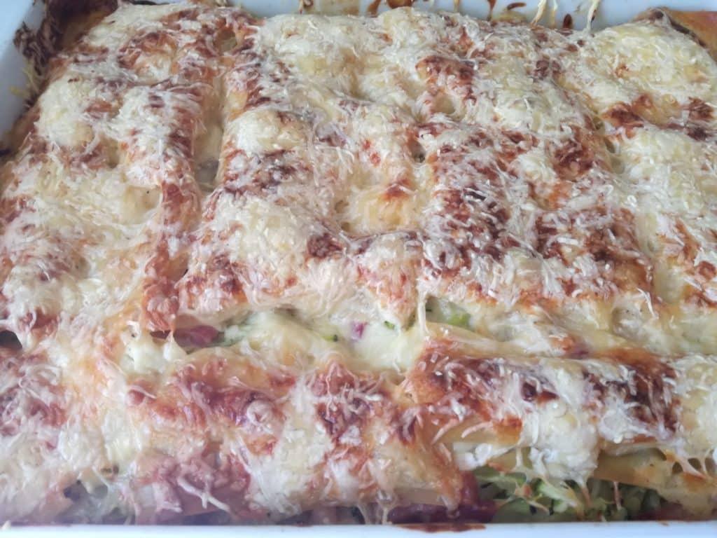 Recette des lasagnes aux courgettes chèvre lardons : cuisson