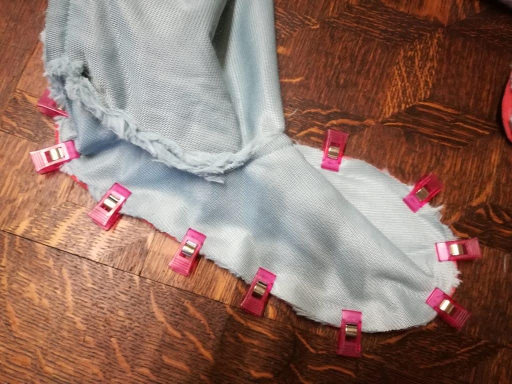 Tuto patron chaussons Lena : assemblage tissu extérieur